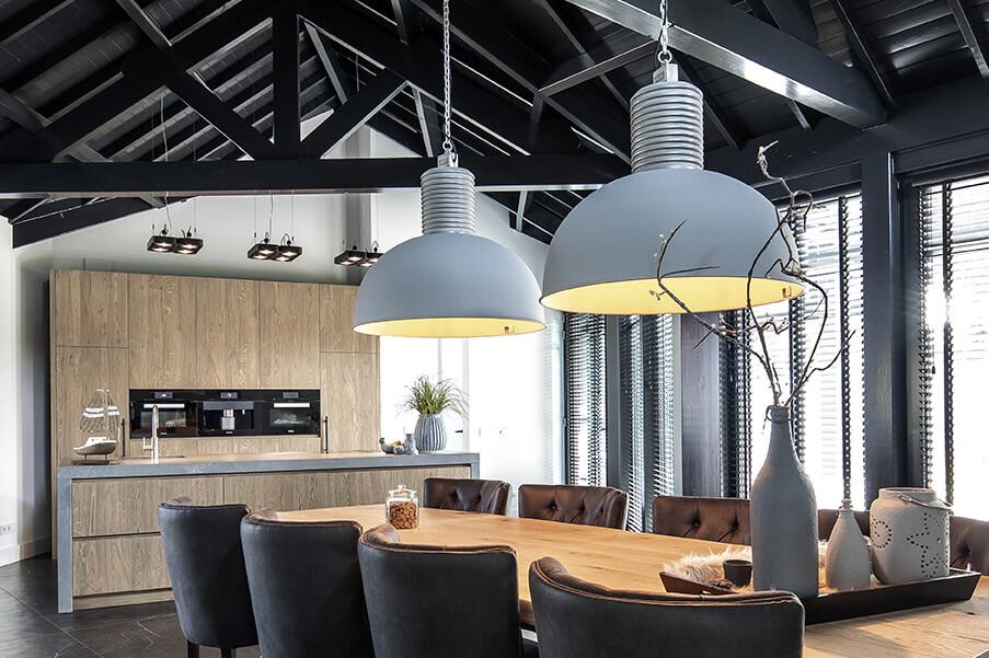 Keuken Woonkamer hout - inspiratie Houthandel Looijmans