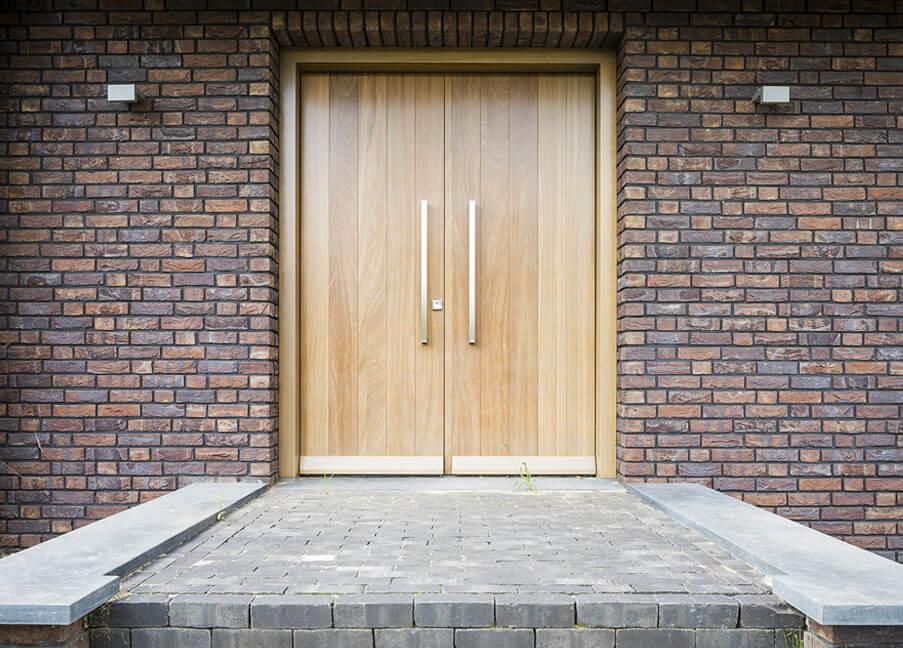Eiken voordeur inspiratie Houthandel Looijmans