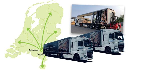 Bezorgen van hout en plaatmateriaal in heel Nederland - Houthandel Looijmans Onthout Ons!