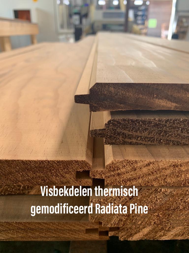 visbekdelen thermisch gemodificeerd radiata pine onthoutons